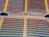 Vista aerea de Complejo deportivo de la Comisi&oacute;n Estatal de Deporte, CODESON en Hermosillo, Sonora....<br /> <br /> Grader&iacute;o, Gradas y butacas del Estadio H&eacute;roe de Nacozari.<br /> Azul y Rojo <br /> <br /> <br /> Photo: (NortePhoto / LuisGutierrez)<br /> <br /> ...<br /> keywords: