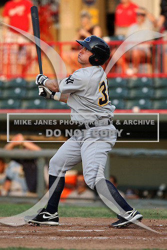 Trenton Thunder Second Baseman Matthew Cusick (34) during a game vs. the Erie Seawolves at Jerry Uht Park in Erie, Pennsylvania;  June 23, 2010.   Trenton defeated Erie 12-7  Photo By Mike Janes/Four Seam Images