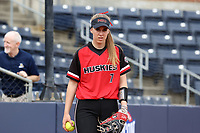 GREENSBORO, NC - MARCH 11: Megan Guericke #7 of Northern Illinois University during a game between Northern Illinois and UNC Greensboro at UNCG Softball Stadium on March 11, 2020 in Greensboro, North Carolina.