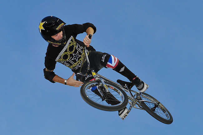17 August, 2012:  Simon Tabron competes in the Bmx Final: Round 2 of the Pantech Beach Championships in Ocean City, MD. Simon finished 3rd in the event.
