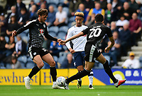 Preston North End's Callum Robinson vies for possession with Reading's John Swift, left, and Reading's Tiago Ilori<br /> <br /> Photographer Chris Vaughan/CameraSport<br /> <br /> The EFL Sky Bet Championship - Preston North End v Reading - Saturday 15th September 2018 - Deepdale - Preston<br /> <br /> World Copyright &copy; 2018 CameraSport. All rights reserved. 43 Linden Ave. Countesthorpe. Leicester. England. LE8 5PG - Tel: +44 (0) 116 277 4147 - admin@camerasport.com - www.camerasport.com