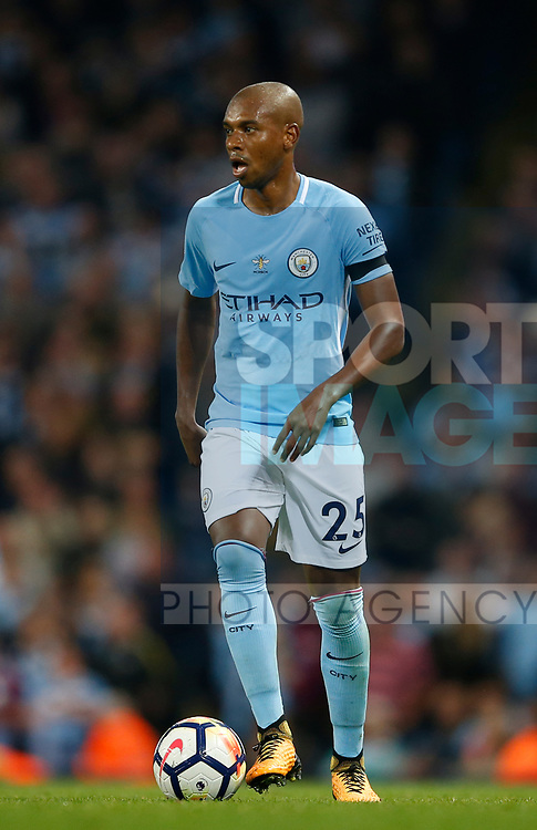 Fernandinho of Manchester City during the Premier League match at the Eithad Stadium, Manchester. Picture date 21st August 2017. Picture credit should read: Simon Bellis/Sportimage