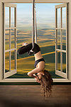 Aerial Yoga & window