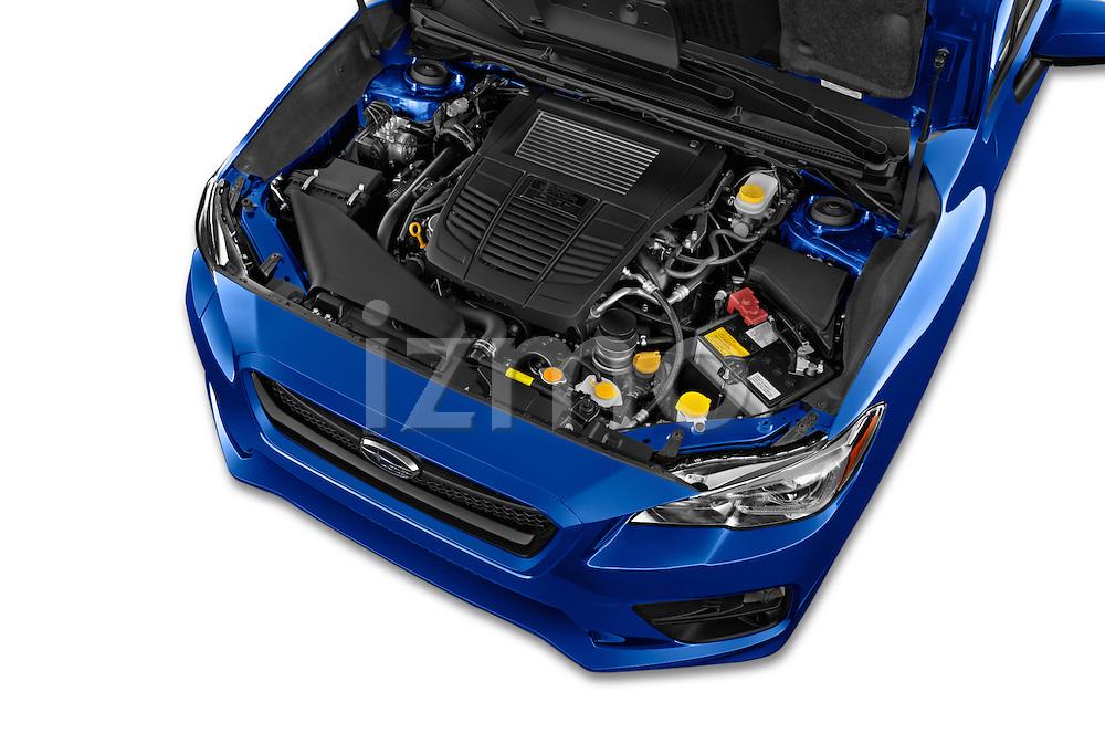 Car Stock 2015 Subaru Wrx - 4 Door Sedan 2WD Engine high angle detail view