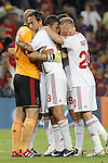 AC Milan players celebrating result at the end of Champions League match on september 13th 2011...Photo: Cesar Cebolla / ALFAQUI