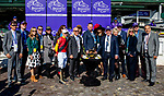 November 3, 2018 : Connections to Shamrock Rose #14, ridden by Irad Ortiz, Jr., winner of the the Breeders' Cup Filly & Mare Sprint, in the winner circle on Breeders Cup World Championships Saturday at Churchill Downs on November 3, 2018 in Louisville, Kentucky. Bill Denver /Eclipse Sportswire/CSM