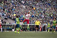 Seattle, Washington - Sunday, March 19, 2017: Seattle Sounders FC vs New York Red Bulls at CenturyLink Field. Final Score: Seattle Sounders FC 3, New York Red Bulls 1