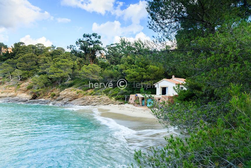 Domaine du Rayol en novembre : la maison de la plage.
