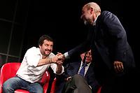 Matteo Salvini e Massimo Gandolfini<br /> Roma 10/05/2017. Convegno 'Sicurezza, Immigrazione, Periferie: dalla parte dei deboli'<br /> Rome 10th May 2017. Convention of the right wing parties.<br /> Foto Samantha Zucchi Insidefoto