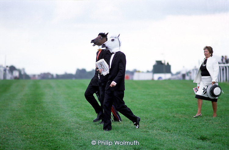 Epsom Downs racecourse on Derby Day.