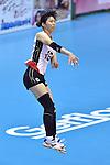 Risa Shinnabe (JPN),<br /> AUGUST 17, 2013 - Volleyball :<br /> 2013 FIVB World Grand Prix, Preliminary Round Week 3 Pool M match Japan 1-3 United States at Sendai Gymnasium in Sendai, Miyagi, Japan. (Photo by Ryu Makino/AFLO)
