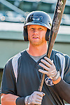 21 July 2016: Hudson Valley Renegades outfielder Jake Fraley awaits his turn in the batting cage prior to a game against the Vermont Lake Monsters at Centennial Field in Burlington, Vermont. The Lake Monsters edged out the Renegades 4-3 in NY Penn League play. Mandatory Credit: Ed Wolfstein Photo *** RAW (NEF) Image File Available ***