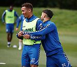 01.08.2018 Rangers training: James Tavernier and Daniel Candeias