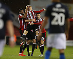 Mark Duffy of Sheffield Utd celebrates scoring the first goal during the English League One match at Bramall Lane Stadium, Sheffield. Picture date: December 10th, 2016. Pic Simon Bellis/Sportimage