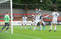 Will De Havilland  of Wycombe Wanderers during the Friendly match between Aldershot Town and Wycombe Wanderers at the EBB Stadium, Aldershot, England on 26 July 2016. Photo by Alan  Stanford.