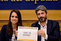 Roma, 14 Luglio 2017<br /> Enrica Sabatini e Roberto Fico<br /> Sistema operativo Rousseau: Presentata la &ldquo;call to action&rdquo; del Movimento 5 Stelle alla Camera