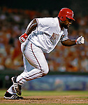 4 August 2007: Washington Nationals first baseman Dmitri Young in action against the St. Louis Cardinals at RFK Stadium in Washington, DC. The Nationals defeated the Cardinals 12-1 in the second game of their 3-game series...Mandatory Photo Credit: Ed Wolfstein Photo
