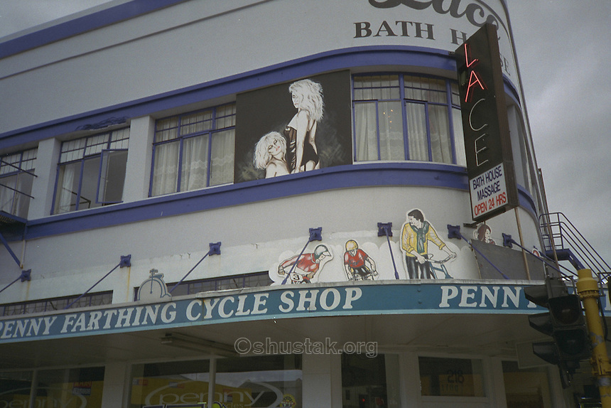 LACE Bath House & Massage above the Penny Farthing Cycle Shop, cnr. Manchester & Tuam St, Christchurch.
