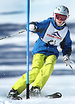 LEAD, SD - JANUARY 31, 2016 -- Elise Unkenholz works through the slalom in the U12 category during the 2016 USSA Northern Division Ski Races at Terry Peak Ski Area near Lead, S.D. Sunday. (Photo by Richard Carlson/dakotapress.org)