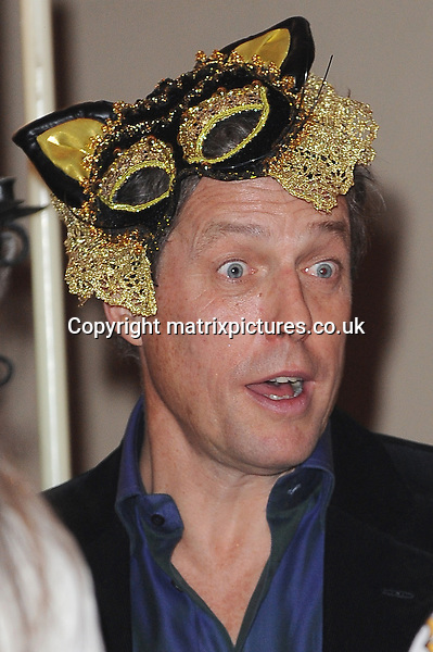 NON EXCLUSIVE PICTURE: PAUL TREADWAY / MATRIXPICTURES.CO.UK<br /> PLEASE CREDIT ALL USES<br /> <br /> WORLD RIGHTS<br /> <br /> British actor Hugh Grant attending the UNICEF Halloween Ball at London's One Mayfair.<br /> <br /> OCTOBER 31st 2013<br /> <br /> REF: PTY 137081