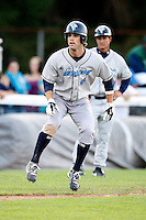 July 16, 2009:  Second Baseman Jeffrey Kobernus of the vermont Lake Monsters during a game at Russell Diethrick Park in Jamestown Jammers, NY.  The Lake Monsters are the NY-Penn League Short-Season Class-A affiliate of the Washington Nationals.  Photo By Mike Janes/Four Seam Images