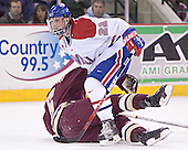 Matt Walsh, Tim Filangieri - The Boston College Eagles defeated the University of Massachusetts-Lowell River Hawks 4-3 in overtime on Saturday, January 28, 2006, at the Paul E. Tsongas Arena in Lowell, Massachusetts.