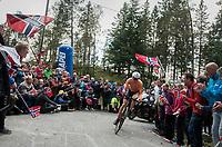 Wilco Kelderman (NED/Sunweb) up Mount Fløyen<br /> <br /> Men Elite Individual Time Trial<br /> <br /> UCI 2017 Road World Championships - Bergen/Norway
