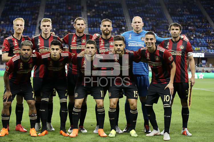 San Jose, CA - Wednesday September 19, 2018: Atlanta United FC Starting Eleven during a Major League Soccer (MLS) match between the San Jose Earthquakes and Atlanta United FC at Avaya Stadium.