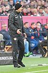 03.11.2018, BayArena, Leverkusen, GER, 1. FBL,  Bayer 04 Leverkusen vs. TSV 1899 Hoffenheim,<br />  <br /> DFL regulations prohibit any use of photographs as image sequences and/or quasi-video<br /> <br /> im Bild / picture shows: <br /> Heiko Herrlich Trainer (Bayer Leverkusen), regt sich heftig auf, Gestik, Mimik,   <br /> Foto &copy; nordphoto / Meuter