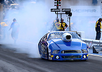 Jul. 18, 2014; Morrison, CO, USA; NHRA pro stock driver Tommy Lee during qualifying for the Mile High Nationals at Bandimere Speedway. Mandatory Credit: Mark J. Rebilas-
