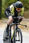Mitchelton-Scott rider in action during Stage 1 of the Ceratizit Madrid Challenge by La Vuelta 2019 running 9.3km individual time trial around Boadilla del Monte, Spain. 14th September 2019.<br /> Picture: Luis Angel Gomez/Photogomezsport | Cyclefile<br /> <br /> All photos usage must carry mandatory copyright credit (© Cyclefile | Luis Angel Gomez/Photogomezsport)