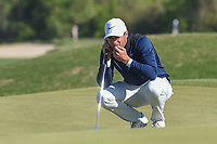 Lucas Bjerregaard (DEN) lines up his putt on 15 during day 5 of the WGC Dell Match Play, at the Austin Country Club, Austin, Texas, USA. 3/31/2019.<br /> Picture: Golffile | Ken Murray<br /> <br /> <br /> All photo usage must carry mandatory copyright credit (&copy; Golffile | Ken Murray)