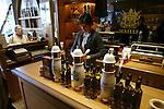 PARIS - FRANCE - 15 APRIL 2004--The mustard shop Maille at Place de la Madeleine. Marie-Pierre Segas serving a customer-- PHOTO: ERIK LUNTANG / EUP-IMAGES