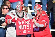 College Park, MD - NOV 12, 2016: Ohio State fan the Big Nut poses for a photo during the game between Maryland and Ohio State at Capital One Field at Maryland Stadium in College Park, MD. (Photo by Phil Peters/Media Images International)