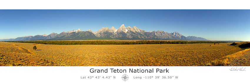 Grand Teton National Park with Latitude and Longitude