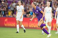 Orlando, FL - Saturday July 15, 2017: Alanna Kennedy celebrates her goal during a regular season National Women's Soccer League (NWSL) match between the Orlando Pride and FC Kansas City at Orlando City Stadium.