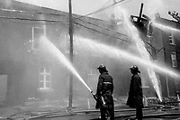 FILE - Montreal firemen in the eighties<br /> <br /> PHOTO : Pierre Roussel - Agence Quebec Presse
