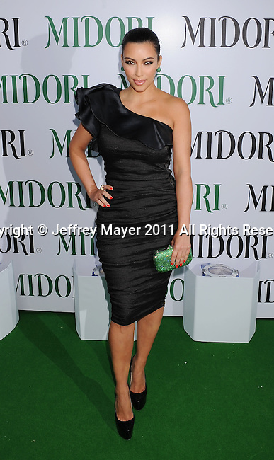 WEST HOLLYWOOD, CA - MAY 10: Kim Kardashian attends the Midori Melon Liqueur Trunk Show at Trousdale on May 10, 2011 in West Hollywood, California.