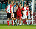 21/10/2006       Copyright Pic: James Stewart.File Name :sct_jspa17_gretna_v_clyde.ALAN MAIN GOES OFF INJURED LATE ON IN THE GAME...Payments to :.James Stewart Photo Agency 19 Carronlea Drive, Falkirk. FK2 8DN      Vat Reg No. 607 6932 25.Office     : +44 (0)1324 570906     .Mobile   : +44 (0)7721 416997.Fax         : +44 (0)1324 570906.E-mail  :  jim@jspa.co.uk.If you require further information then contact Jim Stewart on any of the numbers above.........