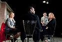 In Basildon by David Elridge, directed by Dominic Cooke. With Ruth Sheen as Maureen, Christian Dixon as Rev David Williams, Lee Ross as Barry, Linda Bassett as Doreen. Opens  at The Royal Court Theatre Downstairs on 22/2/12 . CREDIT Geraint Lewis
