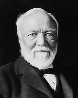 1913 file photo - <br /> Andrew Carnegie was a Scottish-American industrialist, businessman, entrepreneur and a major philanthropist. Carnegie earned the major part of his wealth in steel industry. He built the Carnegie Steel Company which in 1890s was the largest and most profitable industrial enterprise in the world. Later, he sold it to J.P. Morgan who created U.S. Steel. Carnegie, in the later part of his life, turned towards philanthropy and did significant work in the field of education and culture. He founded various organizations like Carnegie Corporation of New York, Carnegie Endowment for International Peace, Carnegie Institution of Washington, Carnegie Mellon University and the Carnegie Museums of Pittsburgh. Carnegie was considered as the second-richest man in history after John D. Rockefeller.