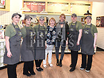 Rachel Allen with staff at the official opening of O'Briens Sandwich bar in Scotch Hall. Photo:Colin Bell/pressphotos.ie