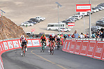 Caleb Ewan (AUS) Lotto-Soudal accelerates away from Matteo Moschetti (ITA) Trek-Segafredo at the finish of Stage 4 of the 2019 UAE Tour, running 197km form The Pointe Palm Jumeirah to Hatta Dam, Dubai, United Arab Emirates. 26th February 2019.<br /> Picture: LaPresse/Massimo Paolone | Cyclefile<br /> <br /> <br /> All photos usage must carry mandatory copyright credit (© Cyclefile | LaPresse/Massimo Paolone)