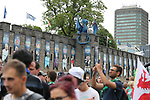 Fans mingle in front of Cardiff Castle during the Champions League Final match at the Millennium Stadium, Cardiff. Picture date: June 3rd, 2017.Picture credit should read: David Klein/Sportimage