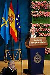 Saskia Sassen, Prince of Asturias Award for Social Sciences, gives a speech during the 2013 Prince of Asturias Awards ceremony at the Campoamor Theater in Oviedo, Spain. October 25, 2013..(ALTERPHOTOS/Victor Blanco)