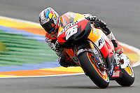 11.11.2012 SPAIN GP Generali de la Comunitat Valenciana Moto GP Race. The picture show Dani Pedrosa (Spanish rider Honda Team HONDA)