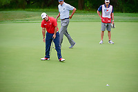 Patrick Reed (USA) walks his birdie putt in on 17 during round 1 of the Valero Texas Open, AT&amp;T Oaks Course, TPC San Antonio, San Antonio, Texas, USA. 4/20/2017.<br /> Picture: Golffile | Ken Murray<br /> <br /> <br /> All photo usage must carry mandatory copyright credit (&copy; Golffile | Ken Murray)