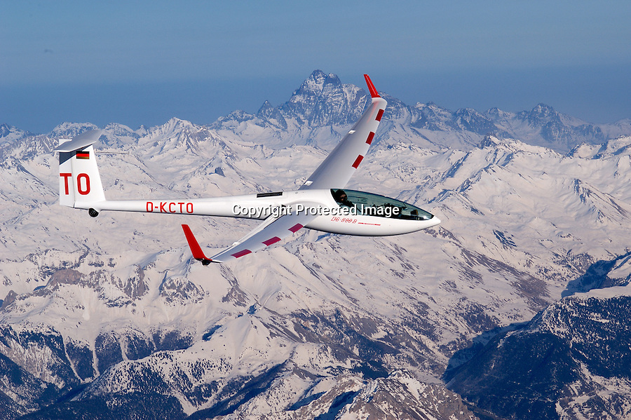 Segelflug, DG 800 b, DG800b, Segelflugzeug, Frankreich, Seealpen, Monte Viso, in der Welle, 5000 Meter Hoehe