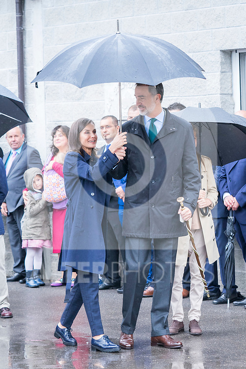 Queen Letizia of Spain and King Felipe VI  during the visit to Asiego, the village who won the 'Exemplary Village Award' 2019. October 19, 2019 (Alterphotos/ Francis Gonzalez)