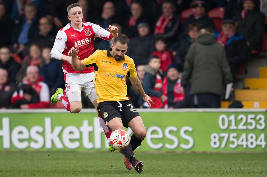 Photographer Terry Donnelly/CameraSport<br /> <br /> The EFL Sky Bet League One - Fleetwood Town v Bolton Wanderers - Saturday 11th March 2017 - Highbury Stadium - Fleetwood<br /> <br /> World Copyright &copy; 2017 CameraSport. All rights reserved. 43 Linden Ave. Countesthorpe. Leicester. England. LE8 5PG - Tel: +44 (0) 116 277 4147 - admin@camerasport.com - www.camerasport.com